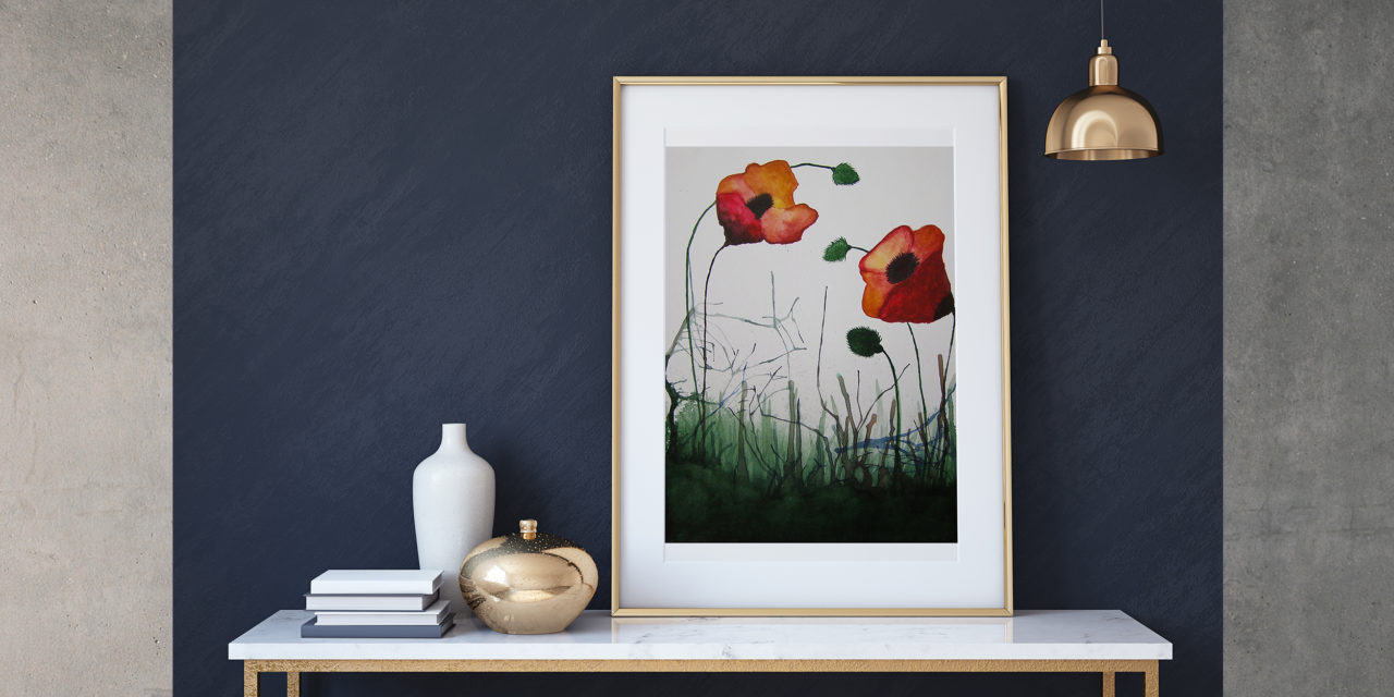 "Art for Sale ""Poppies"" / Watercolor Painting"