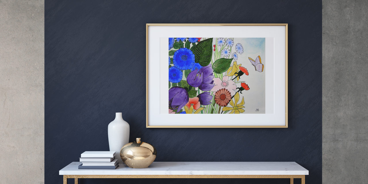 "Art for Sale ""Summer Flowers"" / Watercolor Painting"