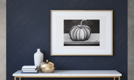"Art for Sale ""Pumpkin"" / Ink Painting"