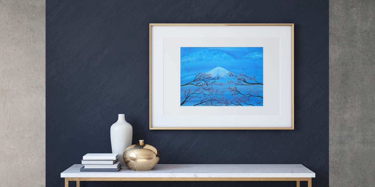 "Art for Sale ""Fuji"" / Ink Painting"