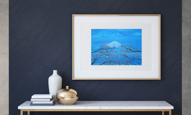 """Art for Sale """"Fuji"""" / Ink Painting"""